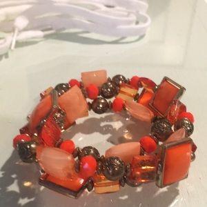 Jewelry - Stretchy orange bracelet